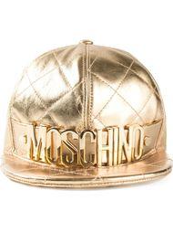 стёганая кепка с логотипом Moschino