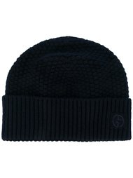 шапка-бини в рубчик Giorgio Armani