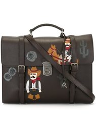 сумка-почтальонка с аппликцией Dolce & Gabbana