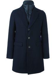 пальто с контрастной деталью Herno