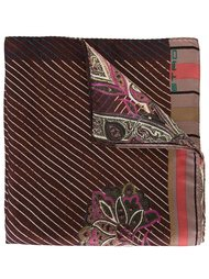 striped floral pocket square Etro