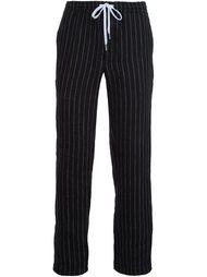 брюки прямого кроя в полоску Second/Layer