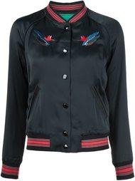 куртка-бомбер  с вышивкой пейзажа Coach