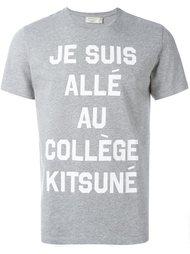 футболка с графическим принтом Maison Kitsuné