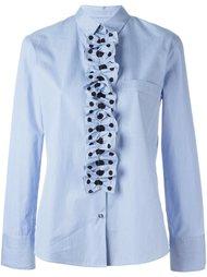 полосатая рубашка с оборками в горошек PS Paul Smith