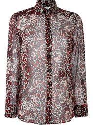рубашка с леопардовым принтом Saint Laurent