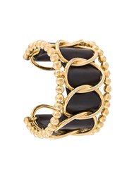 браслет с кожаной деталью Chanel Vintage