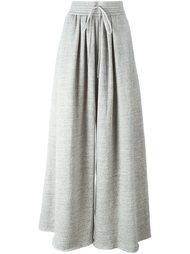 флисовые широкие брюки  Chloé