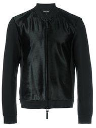 фактурная куртка-бомбер  Emporio Armani