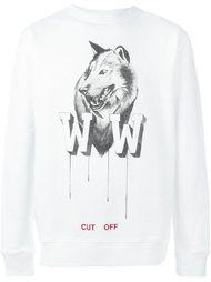 толстовка с принтом волка  Off-White