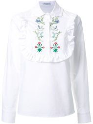ruffle bib embroidered shirt Vivetta