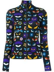 куртка на молнии с принтом 'Bag Bugs' Fendi