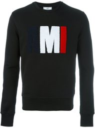 textured logo sweatshirt Ami Alexandre Mattiussi