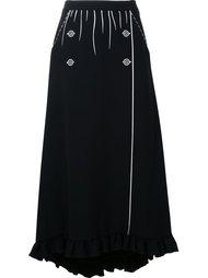 contrast print ruffled skirt Vivetta