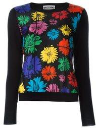 свитер с цветочным принтом  Moschino