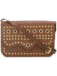 сумка через плечо с заклепками Yves Saint Laurent Vintage