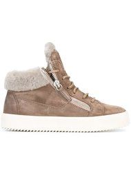 shearling 'Kriss' mid-top sneakers Giuseppe Zanotti Design