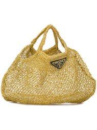 сумка-тоут с сетчатым эффектом Prada Vintage