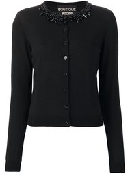 embellished collar cardigan Boutique Moschino