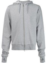 embroidered hood zipped hoodie Hood By Air