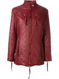 кожаная куртка на молнии Dolce & Gabbana Vintage
