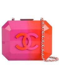 клатч-футляр с логотипом  Chanel Vintage