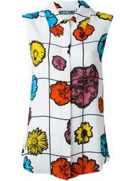 блузка с цветочным принтом Moschino