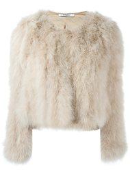 короткая шуба из перьев индейки Givenchy