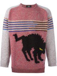 intarsia knit marled jumper  Fendi