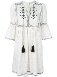 платье с вышивкой и кисточками Talitha