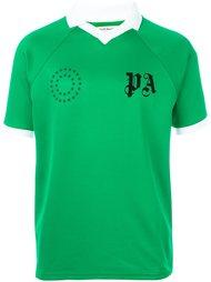 logo print collar T-shirt Palm Angels