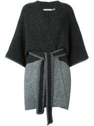 two-tone belted coat Alice+Olivia