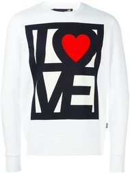 'love me' printed sweatshirt Love Moschino