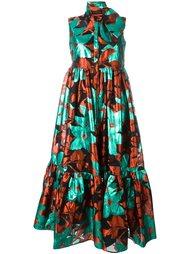 платье с абстрактным принтом Delpozo