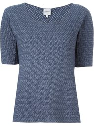 scoop neck knit top Armani Collezioni