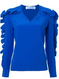 ruffled sleeve blouse Victoria Victoria Beckham