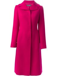 однобортное пальто Dolce & Gabbana