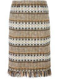 твидовая юбка с орнаментом Tory Burch