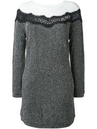 lace insert long-sleeve dress Twin-Set
