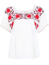 блузка с цветочной вышивкой  Nili Lotan