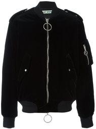 бархатная куртка-бомбер  Off-White