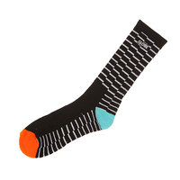 Носки средние Globe Motion Crew Sock Black Steps