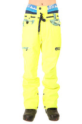 Штаны сноубордические Picture Organic Shred Camo Pant Fluo Yellow