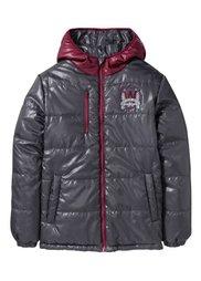 Двухсторонняя стеганая куртка, Размеры  116/122-164/170 (черный/желтый неон) Bonprix
