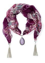 Красивый шарфик с кисточками (черный) Bonprix