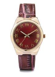 Часы на браслете с крокодиловым тиснением (черный/серебристый) Bonprix