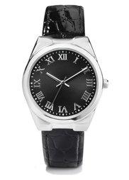 Часы на браслете с крокодиловым тиснением (коньячный/золотистый) Bonprix