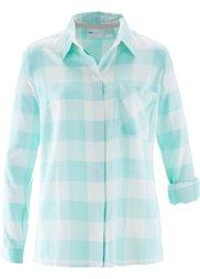 Клетчатая блузка (нежно-розовый/цвет белой шерст) Bonprix