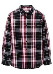 Клетчатая рубашка с принтом, Размеры  116/122-164/170 (зеленый в клетку) Bonprix
