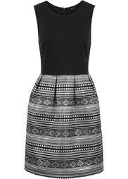 Блестящее платье (черный/золотистый) Bonprix